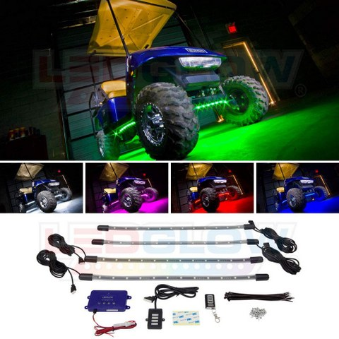 LED Golf Cart Underglow Accent Neon Lighting Kit